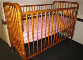 simmons easy side crib. a child can also fall out of the crib. drop-side incidents occur due to incorrect assembly and with age-related wear tear. simmons easy side crib