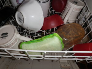 Turning a stinky sponge into a clean sponge smarty pants for My dishwasher smells like fish