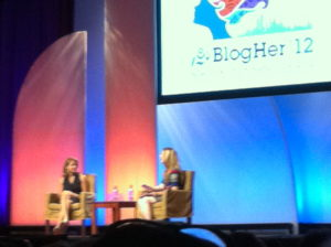 Katie Couric at BlogHer