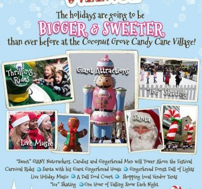Coconut Grove Candy Cane Village