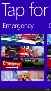 Windows 8X apps for Emergencies