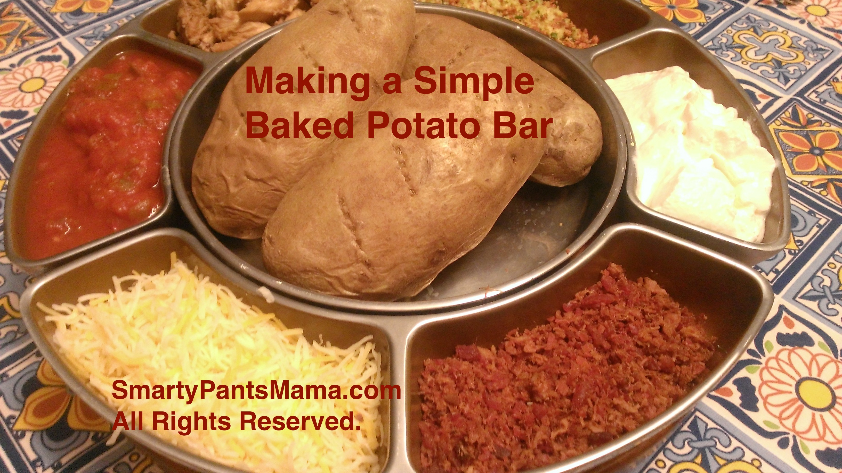 Baked Potato Bar for Dinner - Smarty Pants Mama