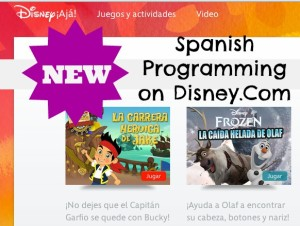 Spanish Disney Website for Bilingual Exposure