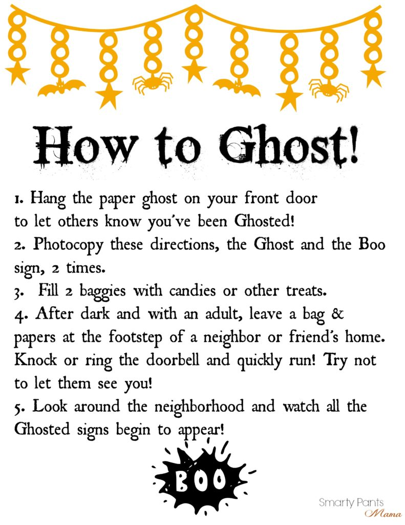 play the halloween game ghosted friends family materials photo copy or print from here the how to ghost directions and the ghost sign two times click the directions to open it on a plain page and then print