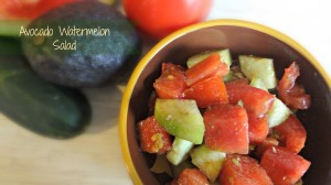 Avocado Watermelon Salad Recipe