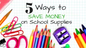 School Supplies List Shopping Now for Later