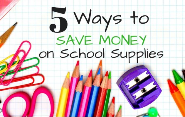 Save Money on School Supplies