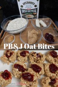 Making PB & J Oat Bites
