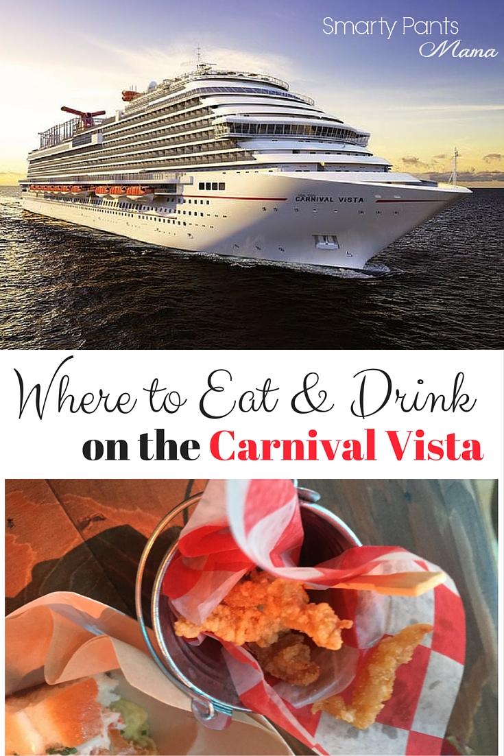 Carnival Vista Dining Guide
