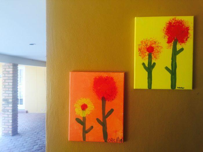 tropical art project