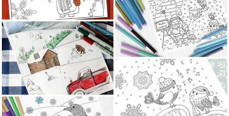 10 Free Winter Coloring Pages For Adults - Print And Color Today!