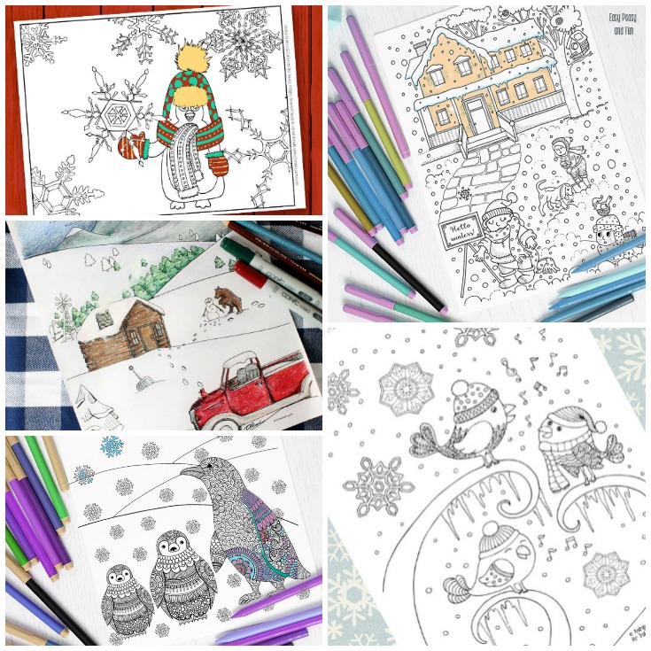 10 Free Winter Coloring Pages For Adults Print And Color Today