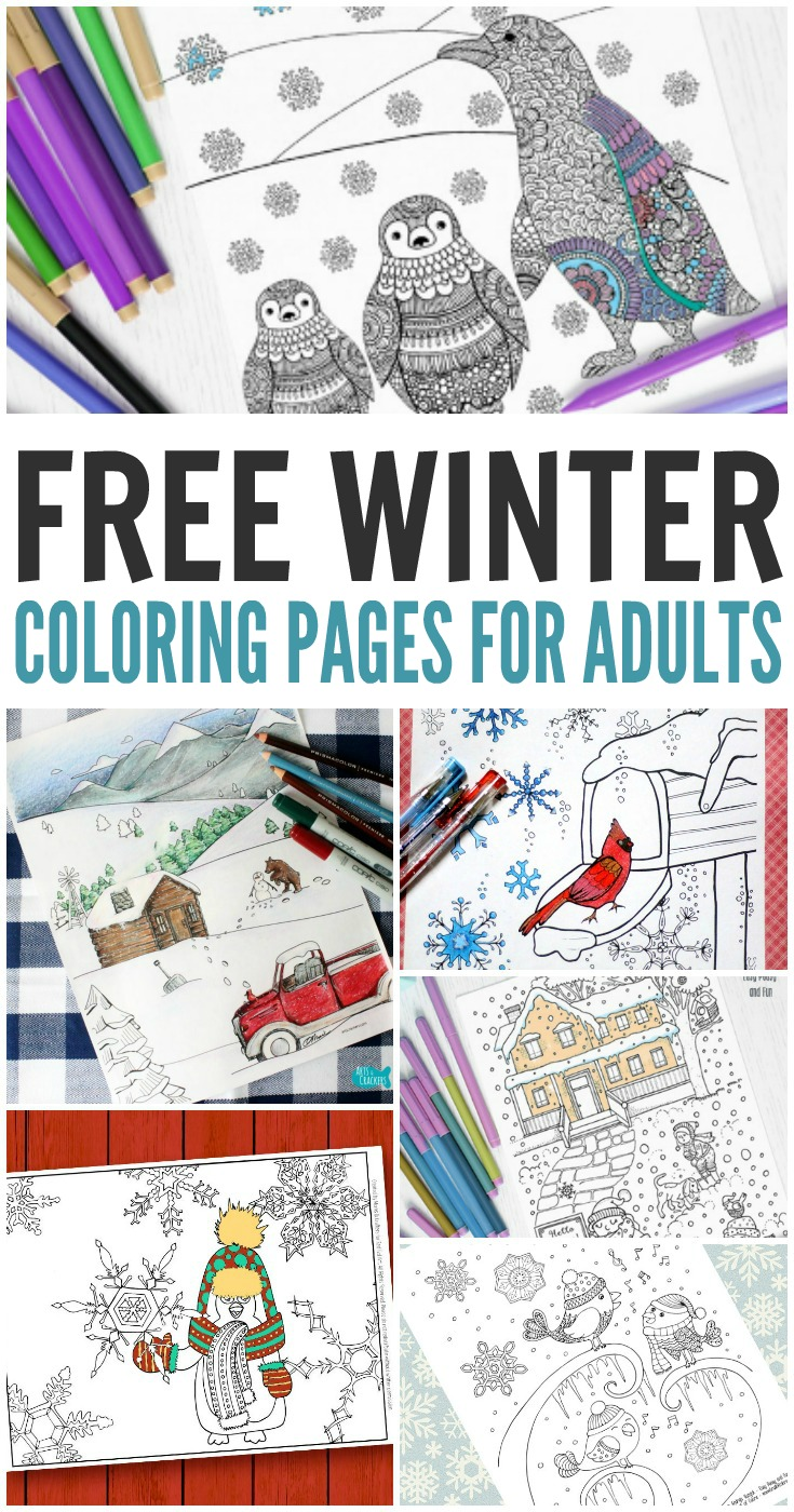 10 Free Winter Coloring Pages For Adults Print And Color