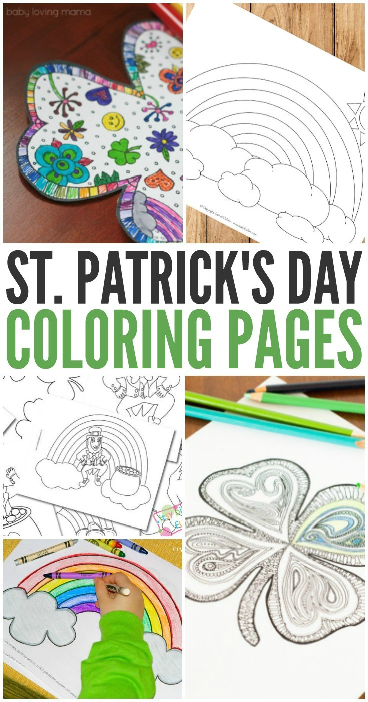 Coloring Pages for St. Patrick\'s Day - Smarty Pants Mama